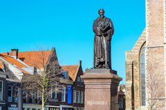 Statue of Hugo Grotius in Delft, Holland Royalty Free Stock Photo