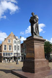Statue of Hugo Grotius in Delft, Netherlands. Statue of Hugo de Groot at the Market in the historical centre of the Dutch town of Delft. Hugo de Groot was a Stock Photo