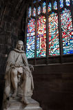 Statue of Humphrey Chetham, Manchester Cathedral Royalty Free Stock Photo
