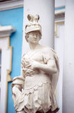 The statue i of the Catherine Palace. St. Petersbu royalty free stock photography