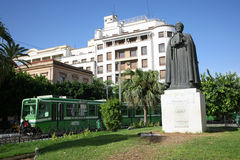 Statue of Ibn Khaldoun in Tunis Stock Images