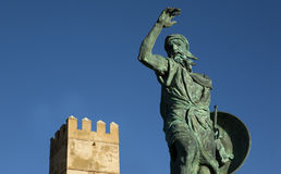 Statue of Ibn Marwan. Founder of Badajoz Stock Image