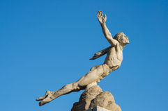 Statue icarus. Icarus statue trying to fly to the sun Royalty Free Stock Photo