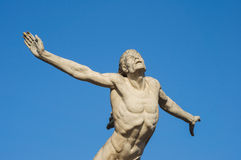 Statue icarus. Icarus statue trying to fly to the sun Royalty Free Stock Photos