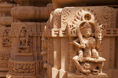 Statue il temple jain, Jaisalmer, Inde Images stock