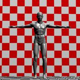 Statue Illustration. Illustration of a grey male statue Royalty Free Illustration