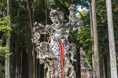Statue im Affewald auf Bali Lizenzfreies Stockfoto