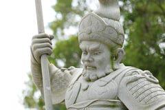 Statue im chinesischen Tempel Stockfotografie