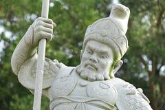 Statue im chinesischen Tempel Stockbild
