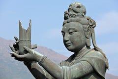 Statue im chinesischen Tempel Lizenzfreies Stockfoto