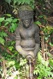 Statue im heiligen Affe-Wald, Ubud, Bali Stockfoto