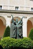 Statue im Kloster Lizenzfreies Stockfoto