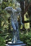 Statue im Wald an theAchillieon Palast auf der Insel von Korfu Griechenland errichtet von der Kaiserin Elizabeth von Österreich S Lizenzfreies Stockbild