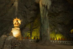 Statue image of buddha in the cave Stock Image