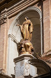 The statue of Immaculate Conception in the centre of the St Barb Royalty Free Stock Photography