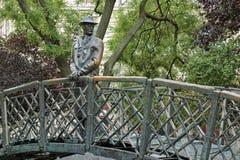 Statue of Imre Nagy in Budapest, Hungary Stock Photography
