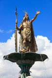 Statue of the Inca Pachacutec Royalty Free Stock Photography