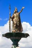 Statue of the Inca Pachacutec Royalty Free Stock Image