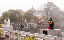 Statue indù in grande bacino Mauritius Immagine Stock Libera da Diritti