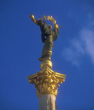 Statue of Independence in Kyiv. Royalty Free Stock Photos