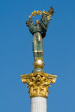 Statue of Independence of Ukraine. On the main square in Kiev stock photos