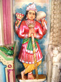 Statue of indian god. A colorful statue in jain temple,india Stock Photography