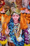 Statue of indian god. A colorful statue in jain temple,india Stock Photo