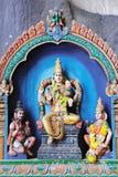 Statue indiane della divinità in caverne di Batu, Malesia fotografia stock libera da diritti