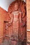 Statue indoue au temple de Pashupatinath, Népal Image libre de droits