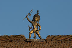 Statue indoue d'un dieu Image stock