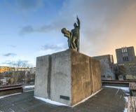 Statue of Ingolf Arnarson, Reykjavik, Iceland Stock Images