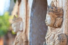 Statue at Inn Thein Paya, Shan state, Myanmar Royalty Free Stock Images