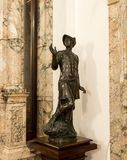 The statue in the inner room of the Peles castle in Sinaia, in Romania Royalty Free Stock Photos