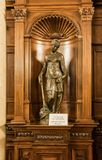 The statue in the inner room of the Peles castle in Sinaia, in Romania Royalty Free Stock Image