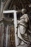 Statue from inside of the Basilica of St. Peter, Vatican Stock Images