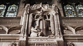 Statue inside cathedral. Statue inside historic Liverpool Cathedral Stock Photography