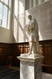 Statue of Isaac Newton In Trinity College Chapel. Statue of Isaac Newton, Designed by Louis-Francois Roubiliac in 1775, Inside Trinity College Chapel at Stock Photo