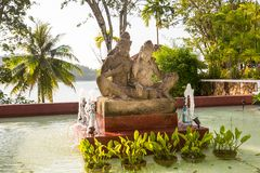 Statue on island of Phuket, Thailand. Royalty Free Stock Image