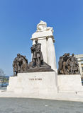 Statue of Istvan Tisza, former Hungarian prime minister, Budapest. Royalty Free Stock Photography