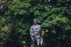 Franko statue in Ternopil. Statue of Ivan Franko Ternopil city, Ukraine Stock Photos