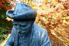 Statue of Ivan Vladimirovich Michurin in autumn garden, Mlynany arboretum, Slovakia Stock Image
