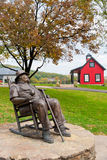 Statue of J. Beam at Jim Beam Distillery. CLERMONT, KY - OCTOBER 13: Jim Beam Distillery at Clermont, KY on October 13, 2012. Jim Beam is a brand of Kentucky royalty free stock image
