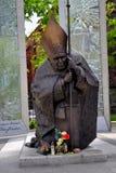 Statue J. Paul II Stock Photos