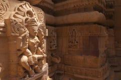 Statue it jain temple, Jaisalmer, India Stock Photos