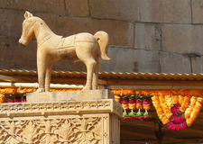 Statue, Jaisalmer Fort. Taken near the entrance to Jaisalmer Fort, Rajasthan Stock Photos