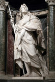 Statue of James the Greater the apostle. Into a niche in the Archbasilica of St. John Lateran, Rome Italy Stock Images