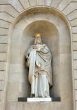 Statue of James I The Conqueror decorating Palau de la Generalitat in Barcelona Royalty Free Stock Photo
