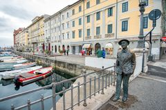 Statue of James Joyce in Trieste, Italy Stock Photos