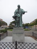 a statue - Jan Amos Komenský royalty free stock photo