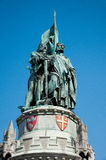 Statue of Jan Breydel and Pieter de Coninck. The statue of Jan Breydel and Pieter de Coninck, Heroes of the Battle of the Golden Spurs, Situated in Brugge Royalty Free Stock Photos